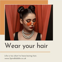 Load image into Gallery viewer, Orange Segment SpiraBobble | Spiral Hair Bobbles & Hair Ties