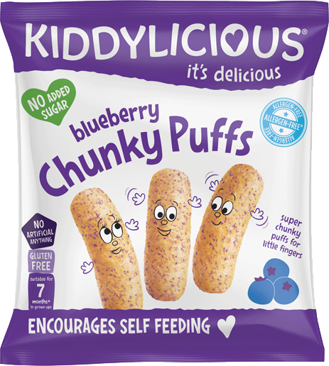 Kiddylicious - Bosbes Chunky Puffs