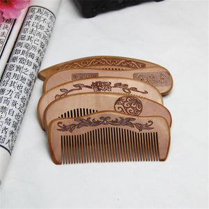 Natural Peach Wood Comb