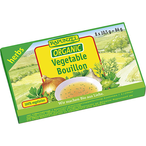 Organic Rapunzel Vegetable Bouillon Cubes (8 cubes)