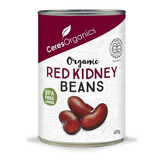 Ceres Canned Organic Red Kidney Beans 400g