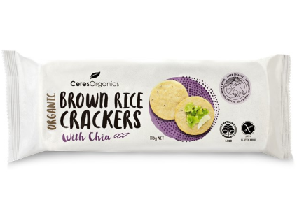 Organic Brown Rice Crackers with Chia