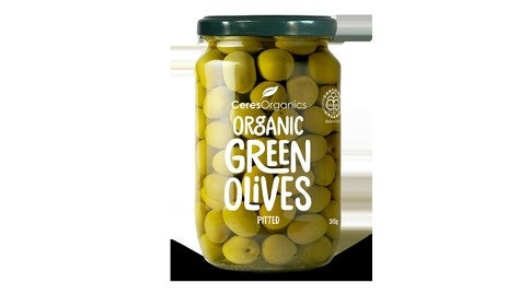 Organic Pitted Green Olives 315g