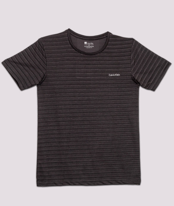 Premium grey half sleeve Tshirt for men stripe online shopping in India