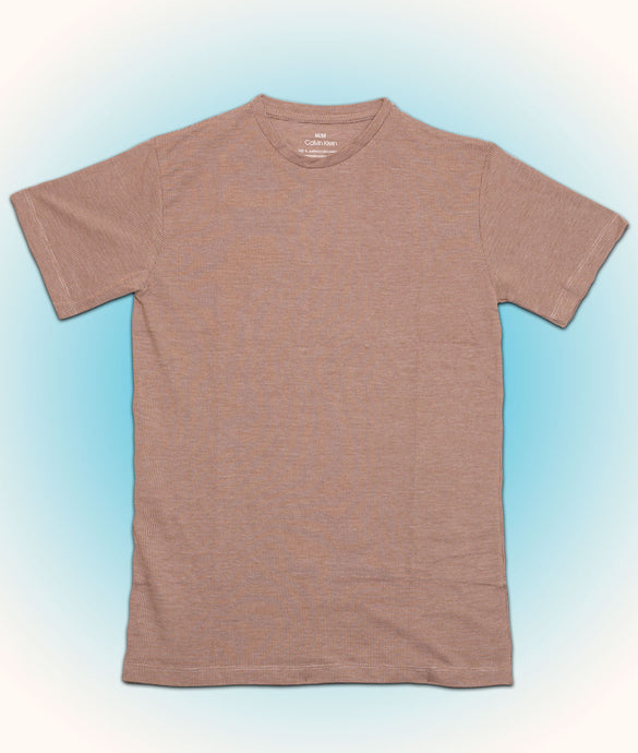 Premium half sleeve cotton Tshirt for men online shopping in India light brown