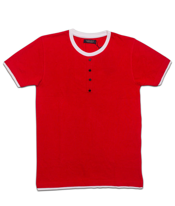 Premium red half sleeve cotton Tshirt for men online shopping in India
