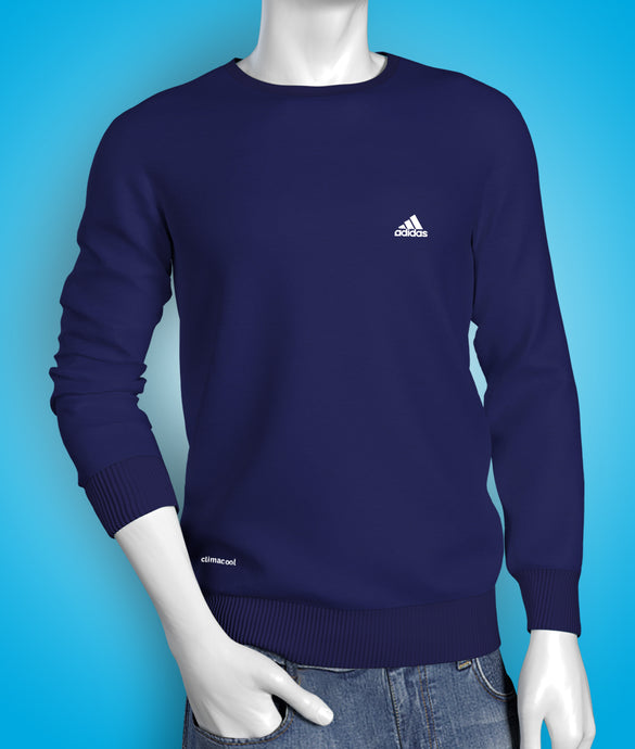 Premium blue full sleeve cotton Tshirt for men online shopping in India