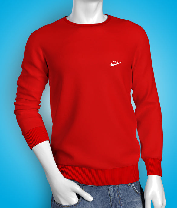 Premium red full sleeve cotton Tshirt for men online shopping in India