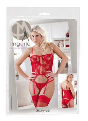 SUSPENDER SET RED