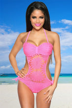 Load image into Gallery viewer, NEON PINK MONOKINI