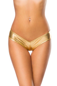 METALLIC PANTY GOLD