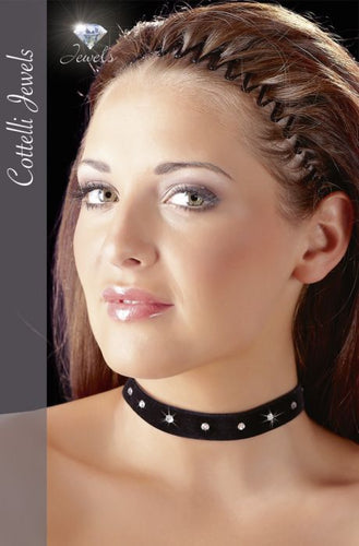 COTELLI COLLECTION – VELVET CHOKER