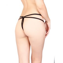 VIXSON - BUTTERFLY G-STRING WITH OPEN CROTCH BLACK