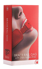 Load image into Gallery viewer, OUCH! - BRACE BALL GAG RED