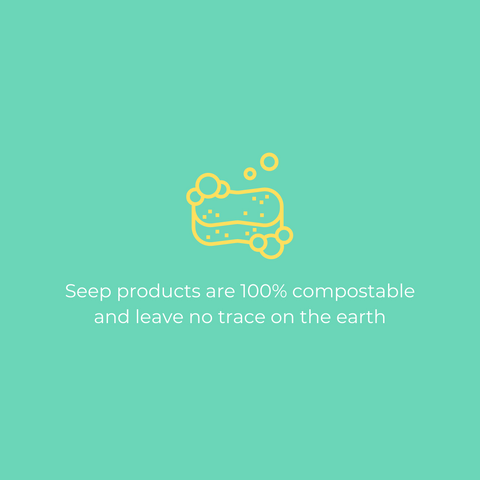 biodegradable vs compostable - all of our seep products are 100% compostable and leave behind no trace