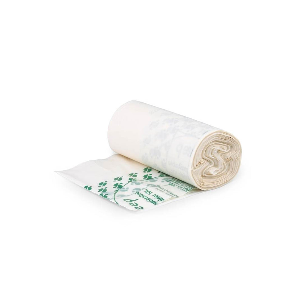 Small Compostable Bin Liners 10L Roll (25 Bags)