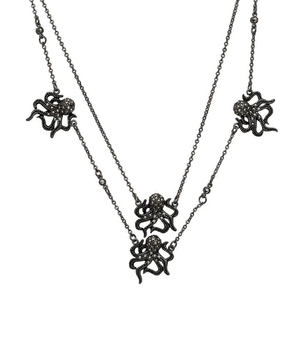 Chocker pulpo kraken de plata