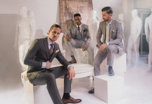 Shop for a wide selection of men's gray suits from dark gray, light gray, and medium gray.