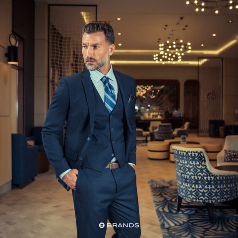Three-piece Blue Suit for Men