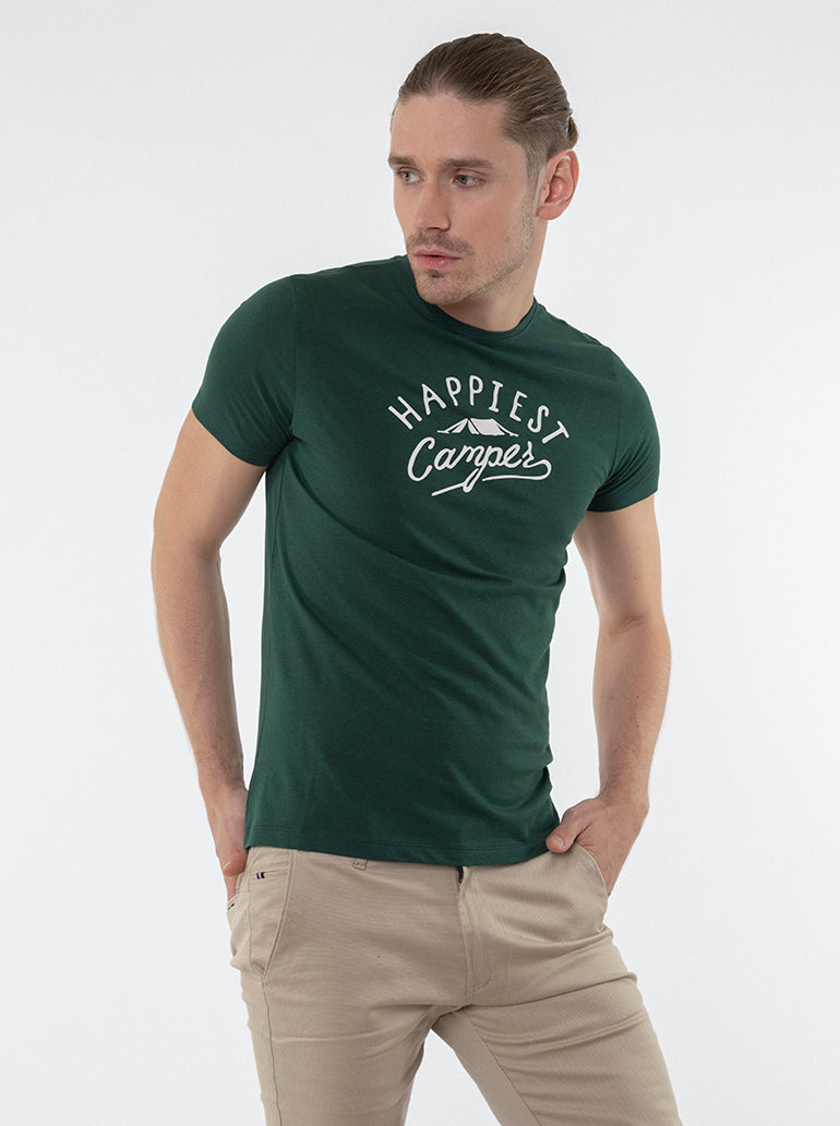 FRANCISCO TOLLI TAILORED GREEN T-SHIRT/POLO
