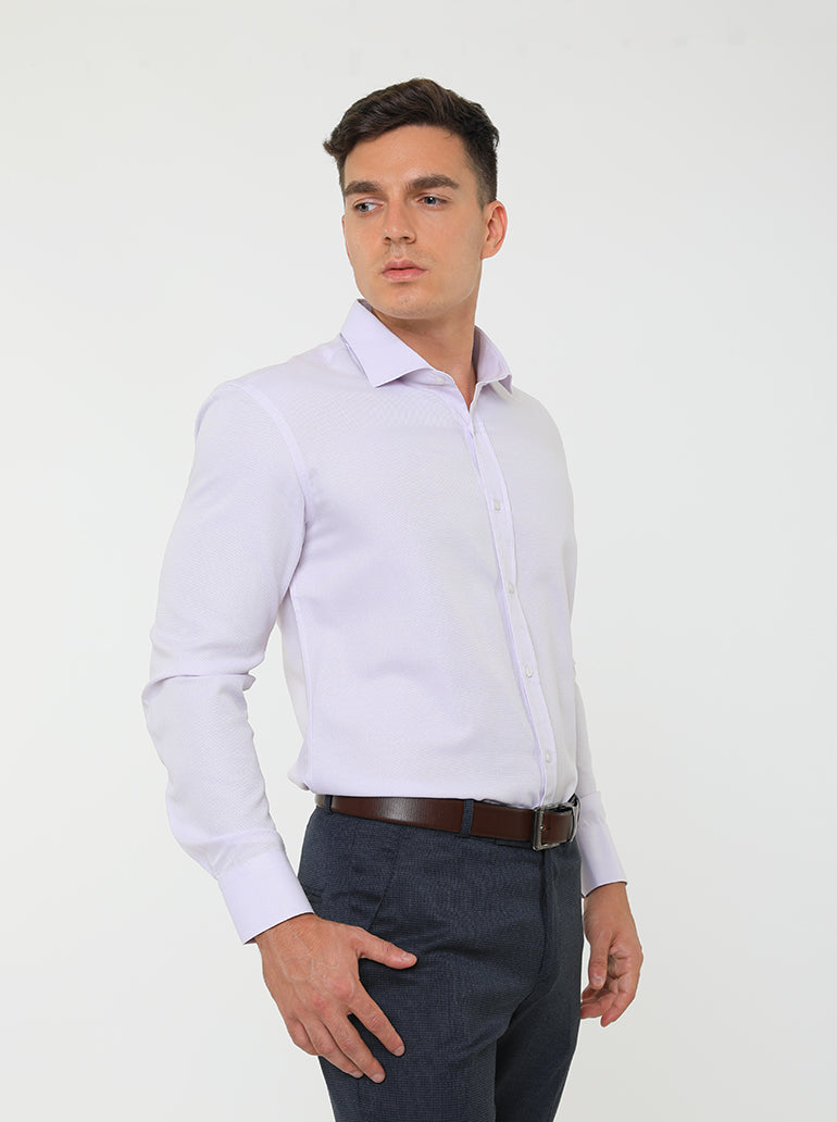 JACK MORGAN SLIM LIGHT PURPLE SHIRT