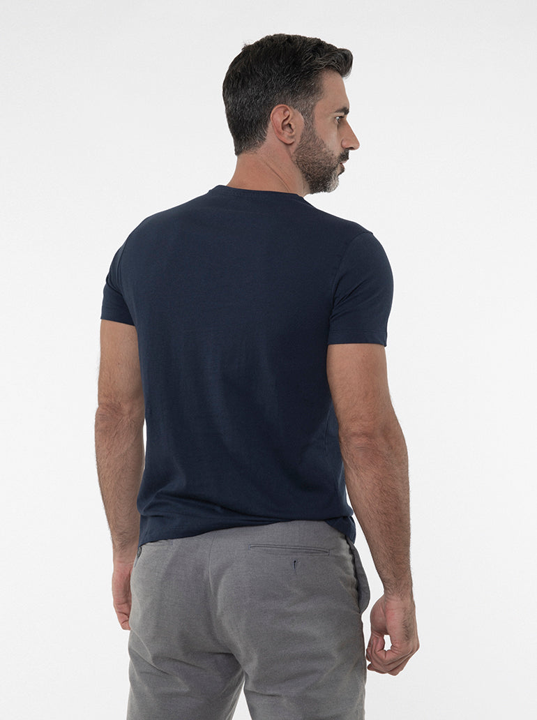 FRANCISCO TOLLI TAILORED NAVY T-SHIRT/POLO