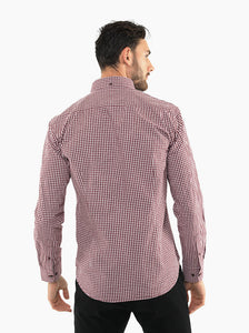 JACK MORGAN MAROON CHECK PARTY SHIRT