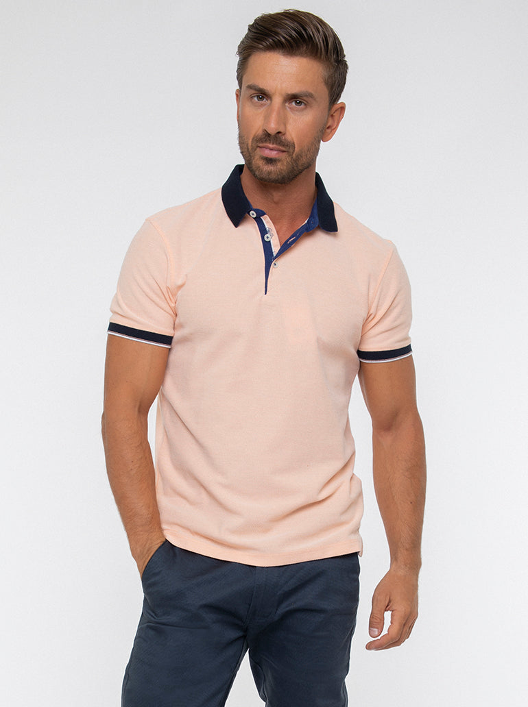 JACK MORGAN TAILORED ORANGE T-SHIRT/POLO