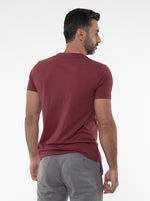 Load image into Gallery viewer, FRANCISCO TOLLI TAILORED MAROON T-SHIRT/POLO