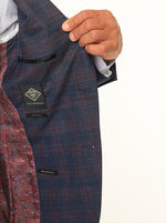 Load image into Gallery viewer, Jack Morgan Checked Navy & Maroon Blazer