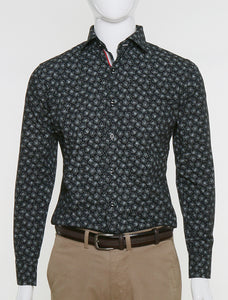 FRANCISCO TOLLI SLIM FIT FLORAL CASUAL SHIRT
