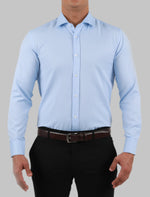 Load image into Gallery viewer, JACK MORGAN BLUE DRESS SHIRT