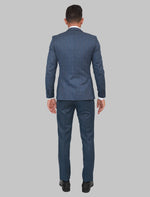 Load image into Gallery viewer, JACK MORGAN CHECKERED BLUE THREE-PIECE SUIT