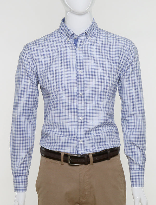 JACK MORGAN SLIM FIT NAVY CHECK SHIRT