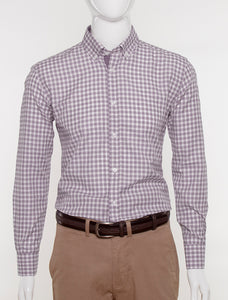 JACK MORGAN SLIM FIT BROWN CHECK SHIRT
