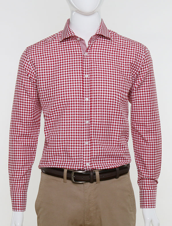 JACK MORGAN SLIM FIT RED CHECK SHIRT