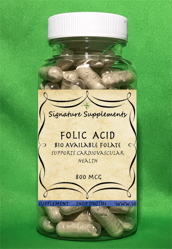 Folic Acid - 100 Capsules