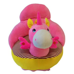 Plush Chair Pink/Blue Unicorn - The Royal Kids
