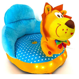 Plush Chair Yellow Lion Design - The Royal Kids