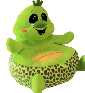 Plush Chair Toddlers Green Turtle Design - The Royal Kids