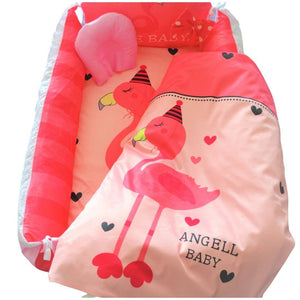 Baby Nest Bed Pink Flamingo Design - The Royal Kids