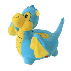 Plush Chair Toddler Blue/Pink Dragon Design - The Royal Kids