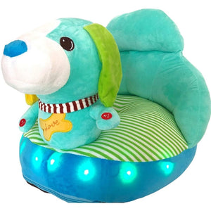 Plush Chair Turquoise Dog Design - The Royal Kids