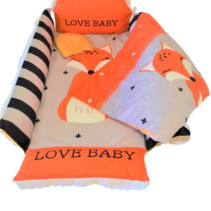 Baby nest bed with fox design
