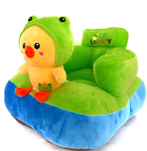 Plush with frog duck design
