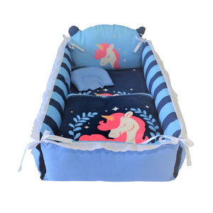 Baby nest bed with unicorn design