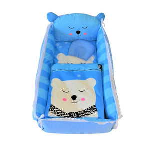 Plush chair with polar bear design