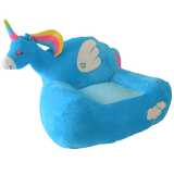 Plush Chairs For Young Kids Blue Unicorn Design - The Royal Kids