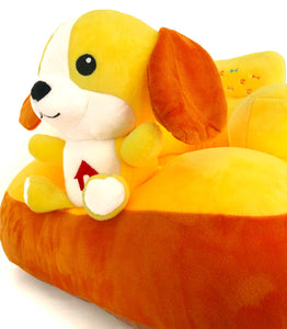 Plush chair with puppy design