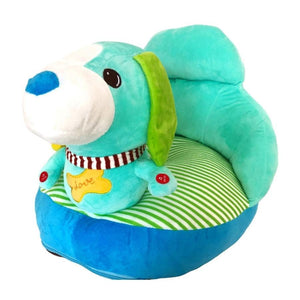 Plush chair with dog design